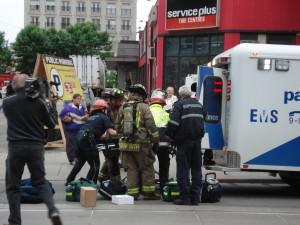 paramedics transporting a patient
